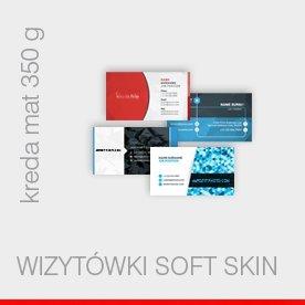 wizytówki foliowane Soft Skin - kreda 350 g