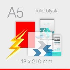 ulotki foliowane A5 - 148 x 210 mm
