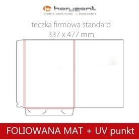 Standard - foliowane mat + lakier UV wybiórczy