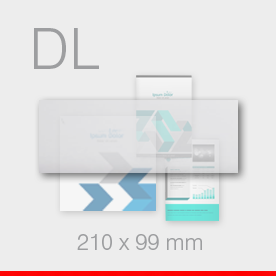 karty, zaproszenia - format DL - 99 x 210 mm