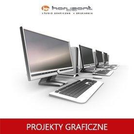 skład z przygotowaniem do druku pliku graficznego jednostronnego wg dostarczonej makiety biznes karty lub wizytówki (1 projekt + 2 korekty, do produkcji Horyzont)