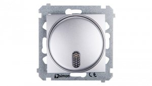 Simon 54 Dzwonek elektroniczny 70dB IP20 srebrny mat DDS1.01/43