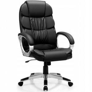 Fotel biurowy obrotowy ze skóry ekologicznej