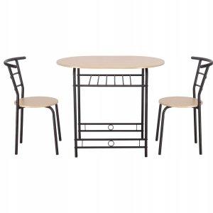 Stół i 2 krzesła zestaw do kuchni jadalni salonu