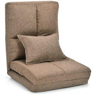 Fotel podłogowy rozkładany leżanka 3w1