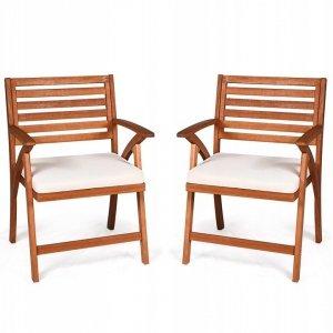 Krzesła ogrodowe drewniane 2 szt.