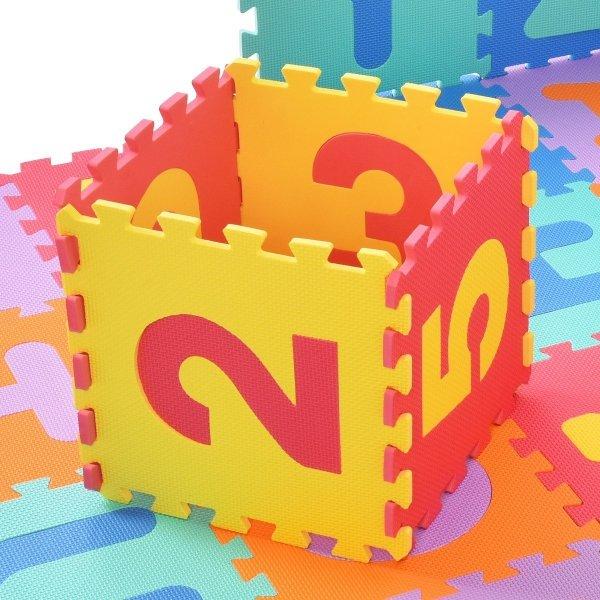 Duża piankowa mata edukacyjna puzzle
