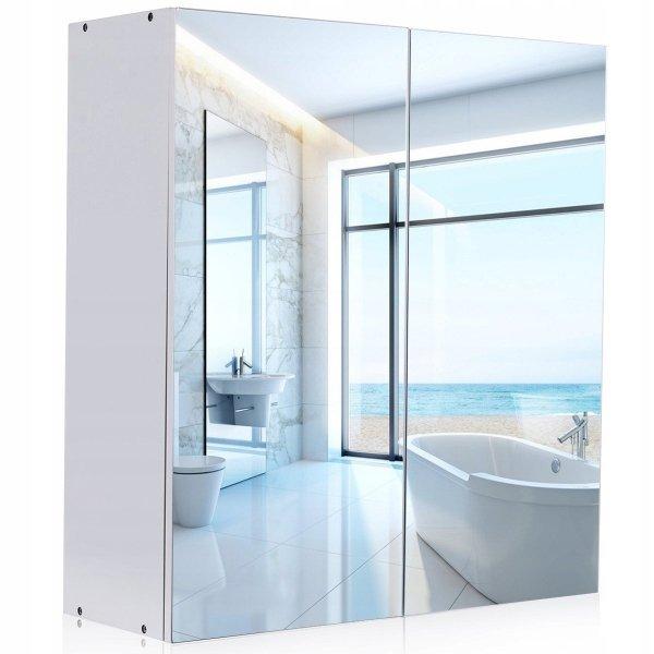 Szafka łazienkowa wisząca z lustrem