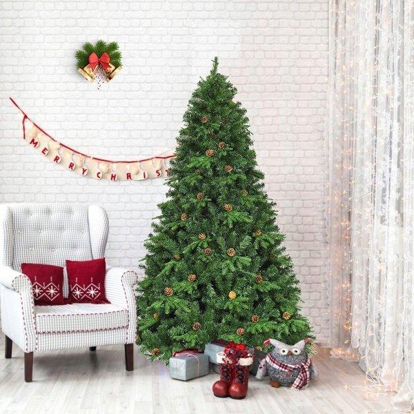 Sztuczna choinka świąteczna z światłami led 225cm