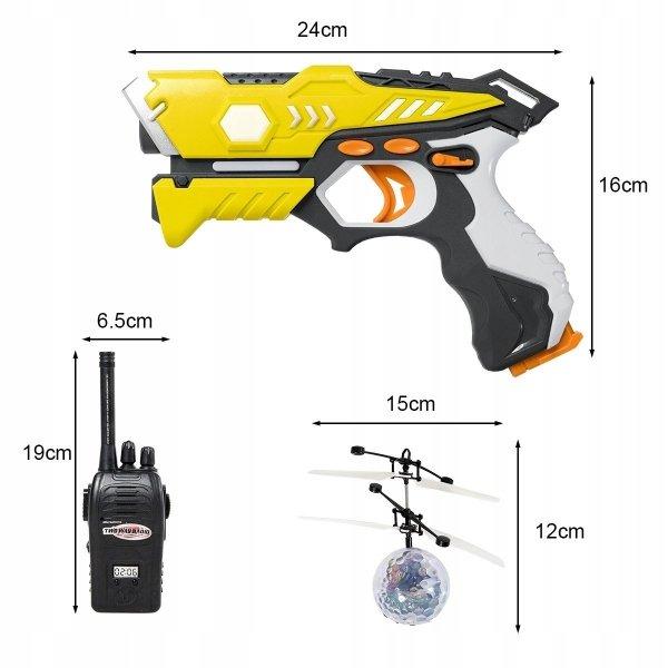 Zestaw do laser tag 2 pistolety laserowe i krótkofalówki