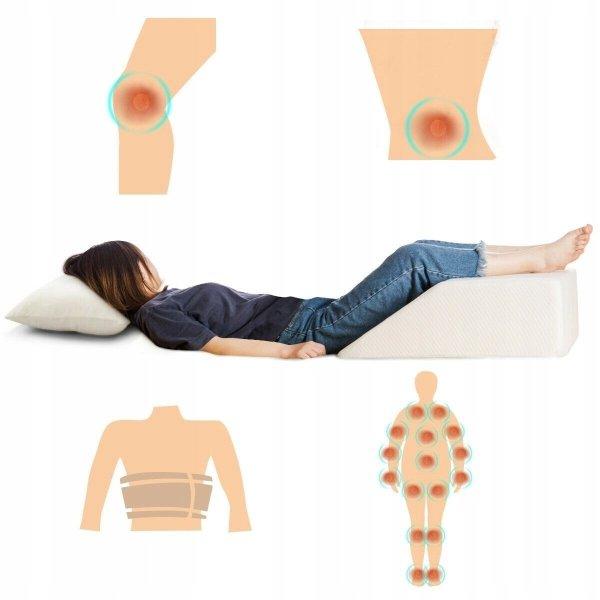 Poduszka ortopedyczna z pamięcią pod nogi   poszewka