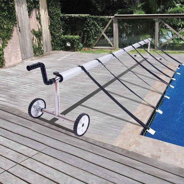 Mobilna maszyna do zwijania osłony basenu
