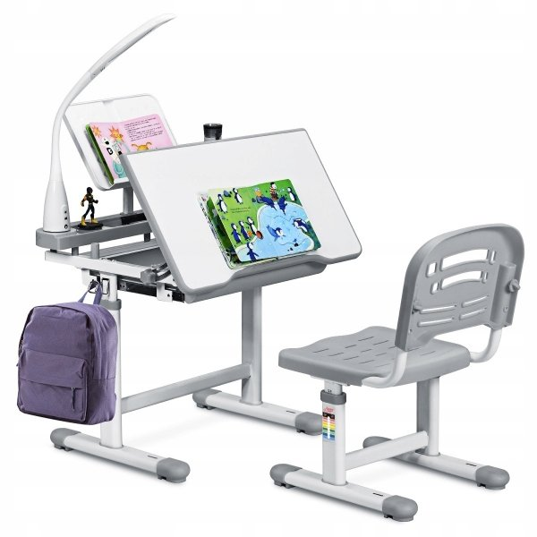 Stół kreślarski biurko szkolne z krzesłem dla dziecka