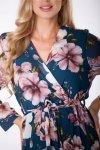 szyfonowa sukienka maxi z kopertowym dekoltem