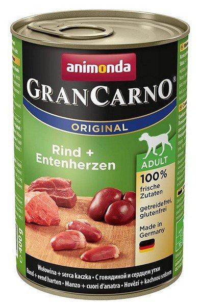 Animonda GranCarno Adult Rind Entenherzen Wołowina + Serca kacze puszka 400g