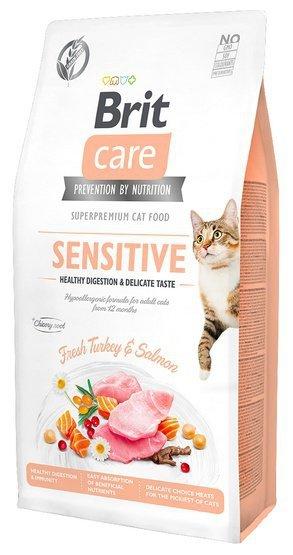 Brit Care Cat Grain Free Sensitive Healthy Digestion & Delicate Taste 2kg
