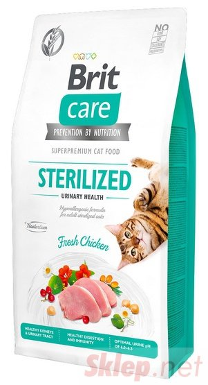 Brit Care Cat Grain Free Sterilized Urinary Health 2kg