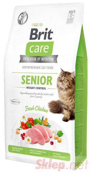 Brit Care Cat Grain Free Senior Weight Control 400g