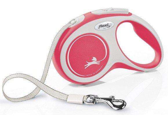 Flexi New Comfort Smycz taśma S 5m czerwona [FL-3523]