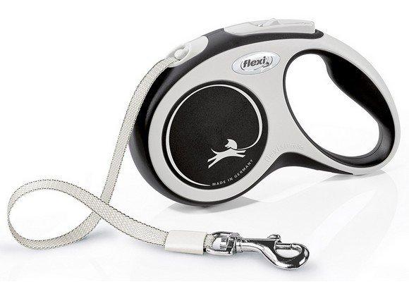 Flexi New Comfort Smycz taśma S 5m czarna [FL-3547]