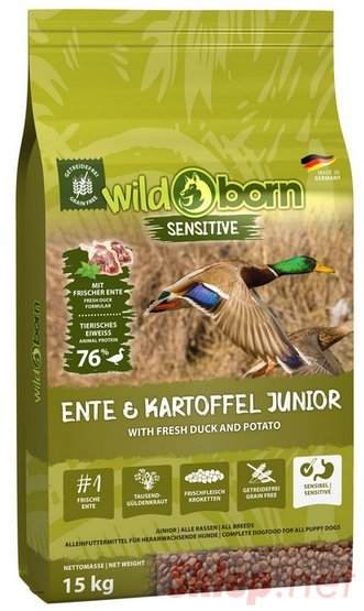 Wildborn Sensitive Ente & Kartoffel Junior 15kg