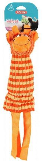 Zolux Zabawka pluszowa Velvet Żyrafa Gloria pomarańczowa [480065]
