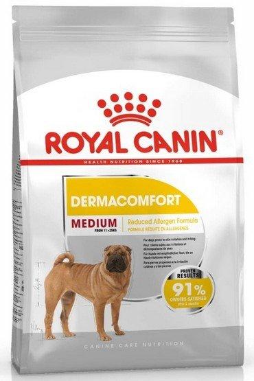 Royal Canin Medium Dermacomfort karma sucha dla psów dorosłych, ras średnich o wrażliwej skórze 10kg