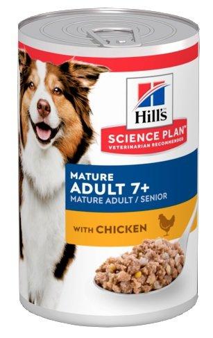 Hill's Science Plan Mature Adult 7+ Senior Medium Kurczak puszka 370g