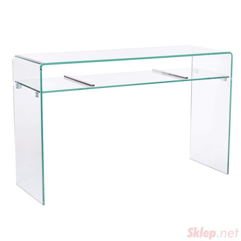Konsola szklana CASSETTO - szkło transparentne