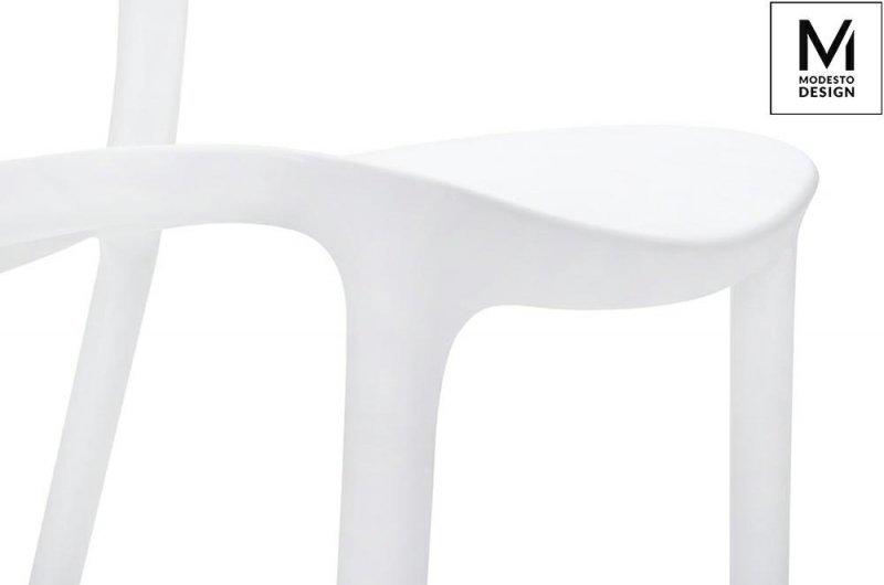 MODESTO krzesło ZING białe - polipropylen