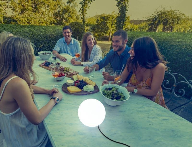NEW GARDEN lampa ogrodowa BULY 20 biała - LED