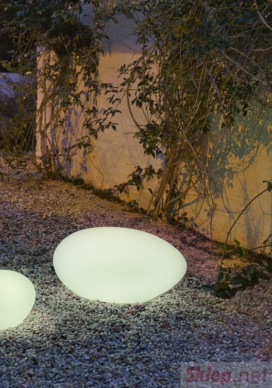 NEW GARDEN lampa ogrodowa PETRA 40 biała - LED