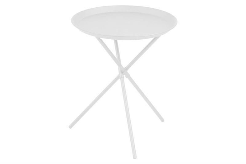 ACTONA stolik kawowy CLIPSTON biały - metal