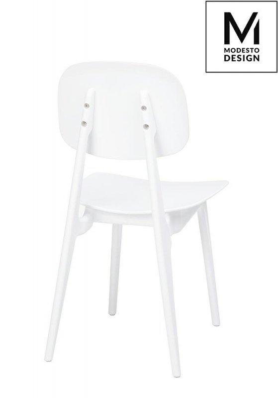 MODESTO krzesło ANDY białe - polipropylen
