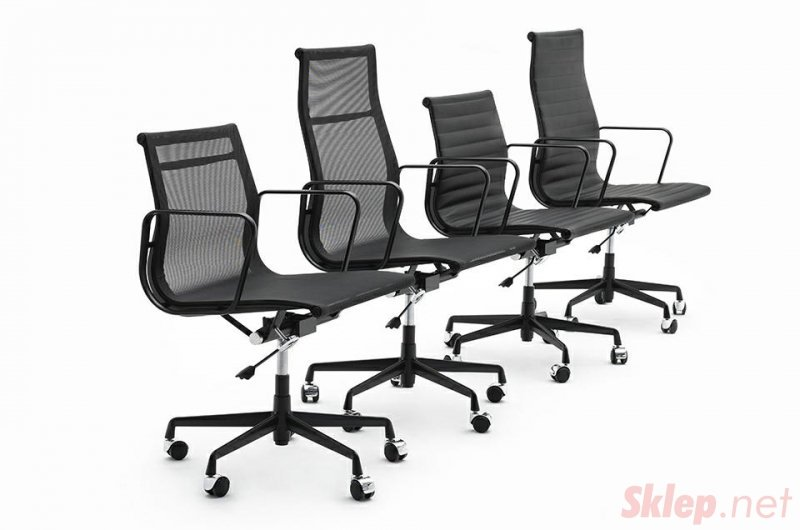 Fotel biurowy BODY PRESTIGE czarny - tkanina, aluminium