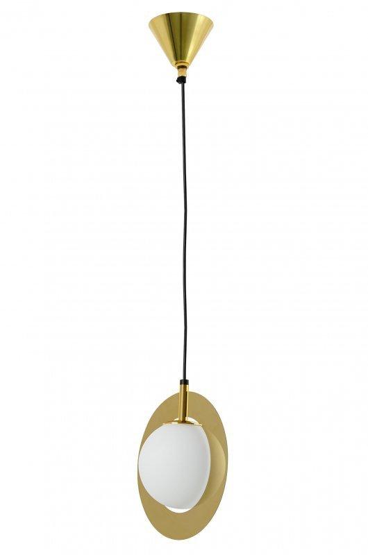 Lampa wisząca AURORA złota - szkło, metal