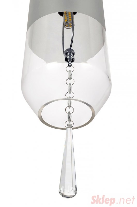 Lampa wisząca NEWEL transparentna - szkło