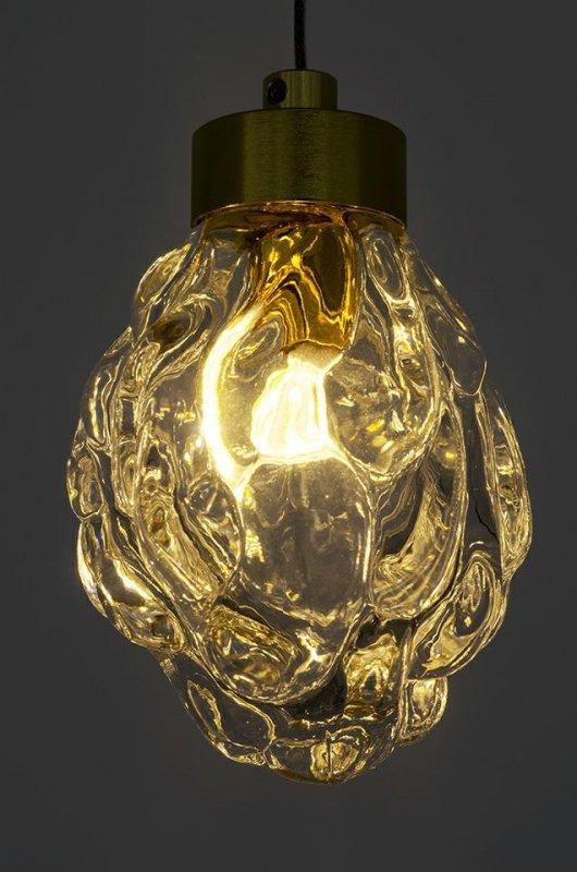 Lampa wisząca FLASH złota - LED, szkło