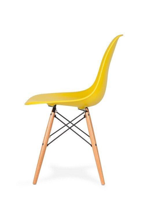 Krzesło DSW WOOD słoneczny żółty.09 - podstawa drewniana bukowa