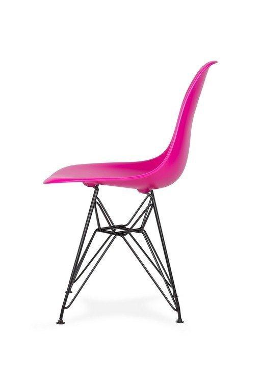 Krzesło DSR BLACK wściekły róż.22 - podstawa metalowa czarna