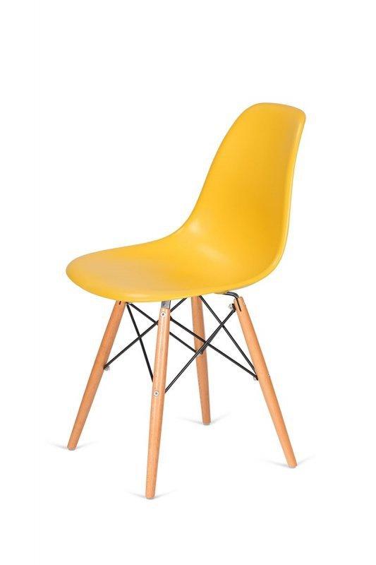 Krzesło DSW WOOD kanarkowy.30 - polipropylen, podstawa bukowa