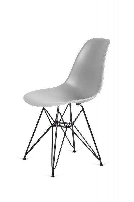 Krzesło DSR BLACK jasny szary.05 - podstawa metalowa czarna