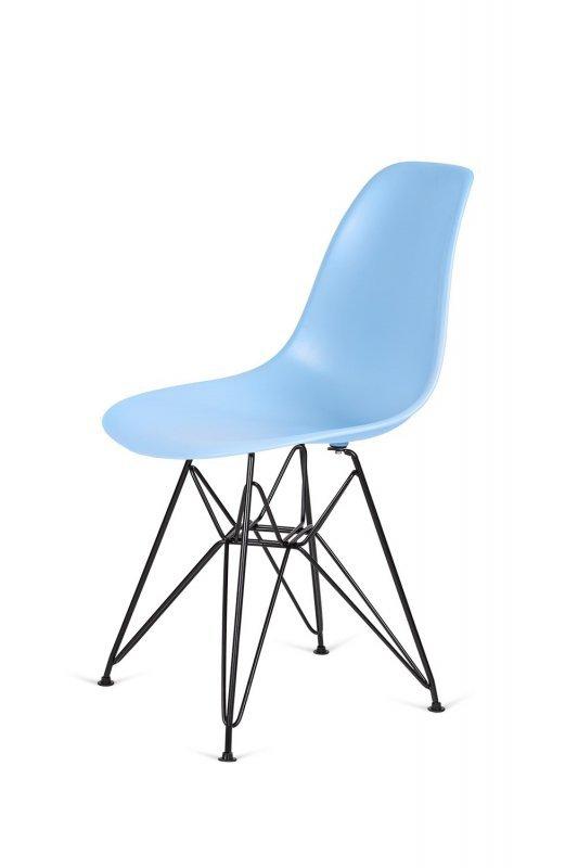 Krzesło DSR BLACK jasny niebieski.12 - podstawa metalowa czarna
