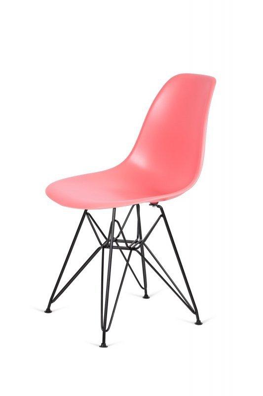 Krzesło DSR BLACK ciemna brzoskwinia.33 - podstawa metalowa czarna