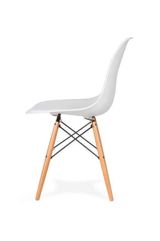 Krzesło DSW WOOD białe.01 - podstawa drewniana bukowa