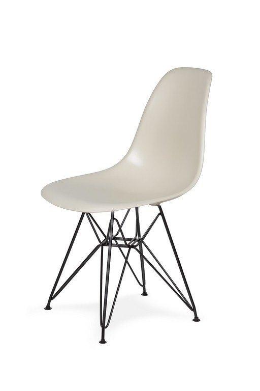 Krzesło DSR BLACK migdał pralinowy.29 - podstawa metalowa czarna