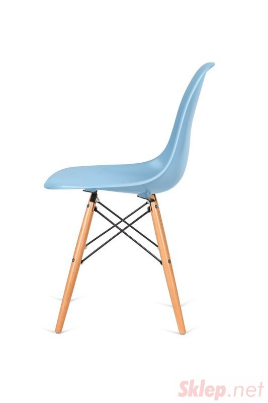 Krzesło DSW WOOD błękitne.11 - podstawa drewniana bukowa