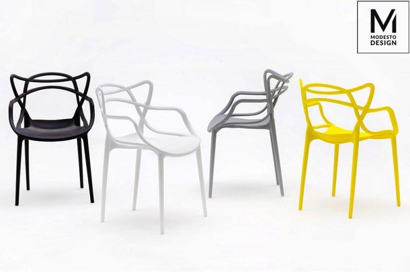 MODESTO krzesło HILO żółte - polipropylen