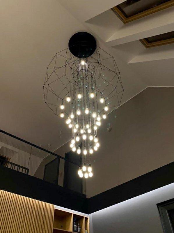 Lampa wisząca FLUSSO 43 GRANDE czarne