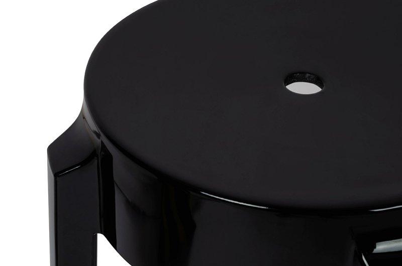 Stołek CHARLES 46 czarny - poliwęglan